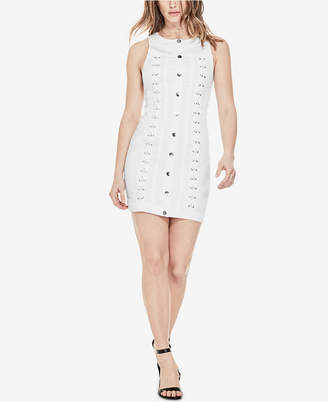 GUESS Lace-Up Denim Dress