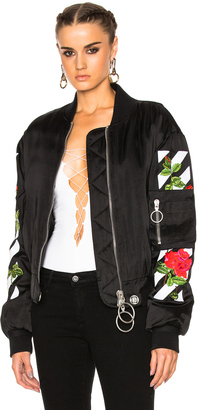 OFF-WHITE Roses Bomber Jacket $2,238 thestylecure.com