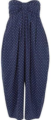 Marysia Swim Leo Corillo Embroidered Cotton-voile Jumpsuit