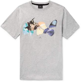 Paul Smith Printed Organic Cotton-Jersey T-Shirt - Gray