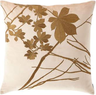 Lili Alessandra Leaf Decorative Velvet Pillow