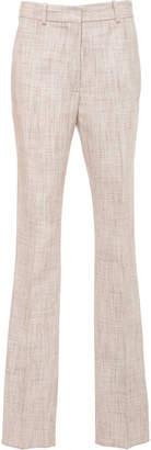 Victoria Beckham Slub Mélange Slim Trousers