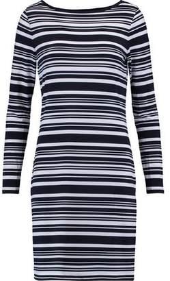 Michael Michael Kors Woman Fluted Striped Faille Mini Dress White Size 00 Michael Kors tNh2N