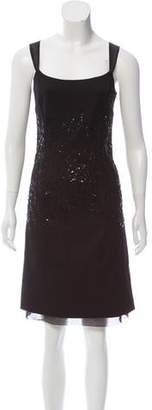 Ellen Tracy Wool Sequin Dress