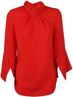 Victoria Beckham Flare-sleeve Knot Blouse