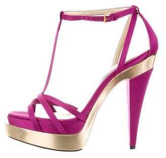 Stella McCartney Satin Platform Sandals