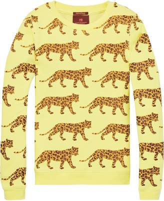 Scotch & Soda Snow Leopard Print Sweater