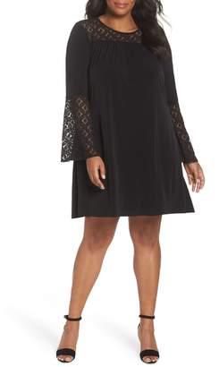 MICHAEL Michael Kors Lace Inset Trapeze Dress