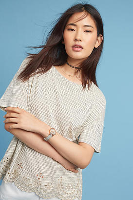 Anthropologie Eyelet-Trimmed Tee $58 thestylecure.com