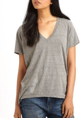 Current/Elliott The V-Neck Tee $78 thestylecure.com