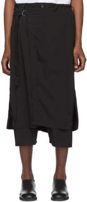 Yohji Yamamoto Black Wrap Trousers