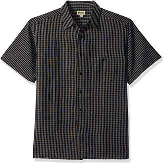 Haggar Men's Short Sleeve Sueded Effect Microfiber Woven Shirt