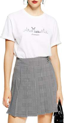 Topshop Skyline Graphic Tee