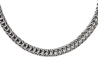 """SPIGA Steel By Design Stainless Steel 18"""" Fancy Square Chain Necklace"""