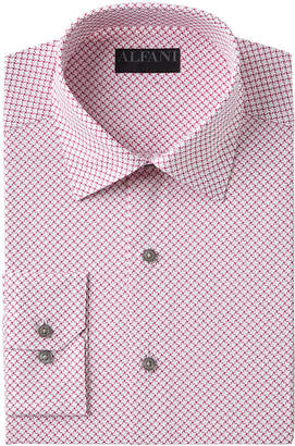 Alfani AlfaTech by Men's Slim-Fit Performance Stretch Easy-Care Puzzle Print Dress Shirt, Created for Macy's