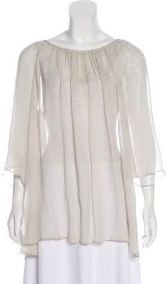 Calypso Silk Embellished Top