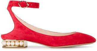 Nicholas Kirkwood Red Lola Pearl ballet pumps