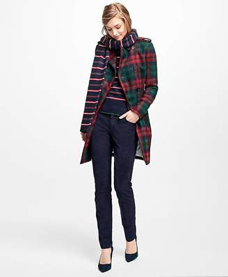 Tartan Wool-Blend Trench Coat $398 thestylecure.com