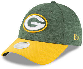 New Era Women's Green Bay Packers On Field Sideline Home 9FORTY Strapback Cap