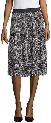 WORTHINGTON Worthington Pleated Midi Skirt