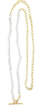 Cathy Waterman 19 Inch Freshwater Pearl Chain Necklace - Yellow Gold