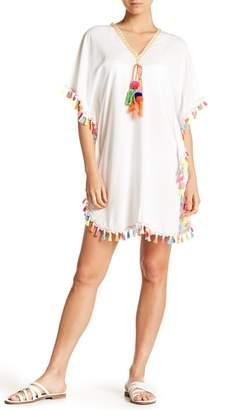 La Moda Tassel Trimmed Woven Tunic