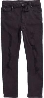 River Island Boys black ripped Sid skinny jeans