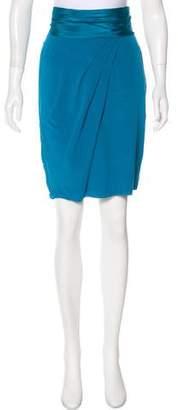 Louis Vuitton Silk Knee-Length Skirt