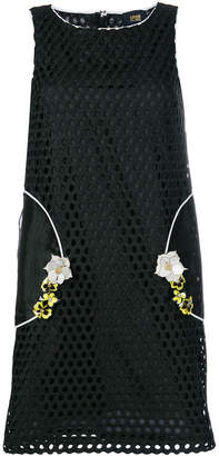 Class Roberto Cavalli lace embroidered flower embellished dress