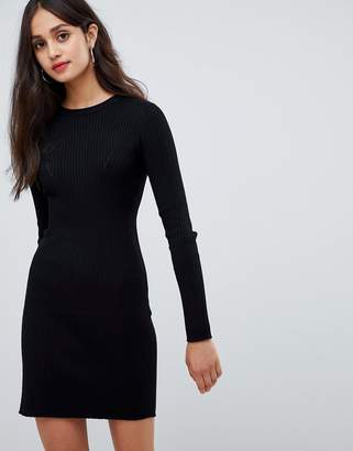 Bershka ribbed knitted dress