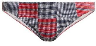 Belize - Ruby Patchwork Bikini Briefs - Womens - Red Multi