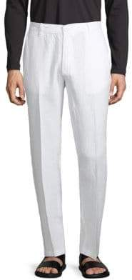 Saks Fifth Avenue Flat Front Linen Pants