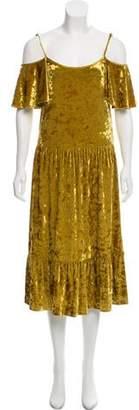 Rebecca Minkoff Velvet Cold-Shoulder Dress