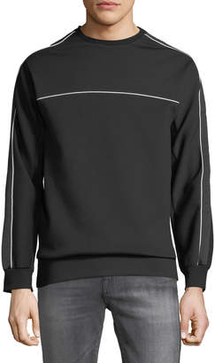 Karl Lagerfeld Paris Men's Long-Sleeve Pullover Sweatshirt