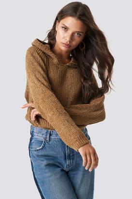 Trendyol Hooded Schenille Sweater Camel