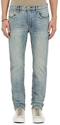Purple Men's P001 Distressed Slim Jeans