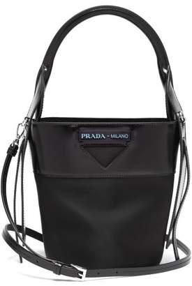 7b750c2257f7 Prada Nylon And Leather Bucket Bag - Womens - Black