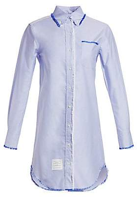 Thom Browne Women's Classic Long-Sleeve Button-Down Shirtdress