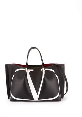 Valentino VLOGO Escape Medium Leather Tote Bag