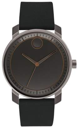 Movado Bold Leather Strap Watch, 41mm
