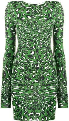 Alexandre Vauthier leopard print mini dress