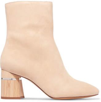 3.1 Phillip Lim Drum Suede Ankle Boots - Cream