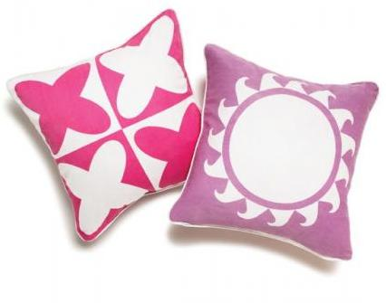 Boodalee World Throw Pillow - in Pink
