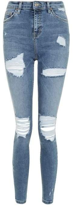 TopshopTopshop Moto blue super rip jamie jeans
