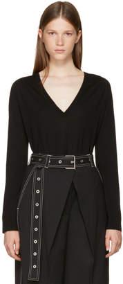Proenza Schouler Black V-Neck Pullover