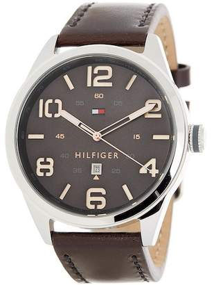 Tommy Hilfiger Men's Conner Leather Strap Watch, 44mm