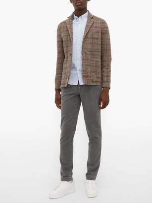 Incotex Verve Slim Fit Moleskin Trousers - Mens - Grey