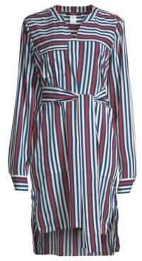 Derek Lam Striped Belted Shirtdress