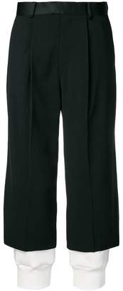 Undercover double layer effect trousers