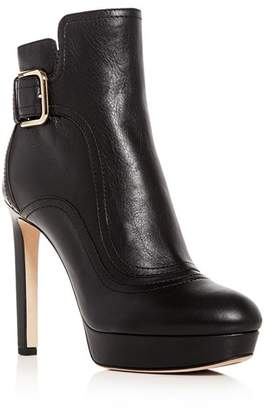 Jimmy Choo Women's Britney 115 Leather High-Heel Platform Booties
